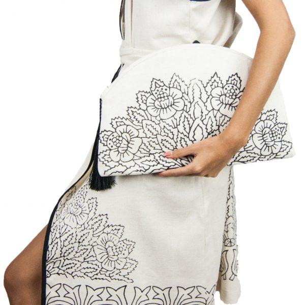2097-Blockprint-Linen&Cotton-Clutch