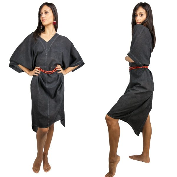 2660-Black-Stone-washed-Caftan