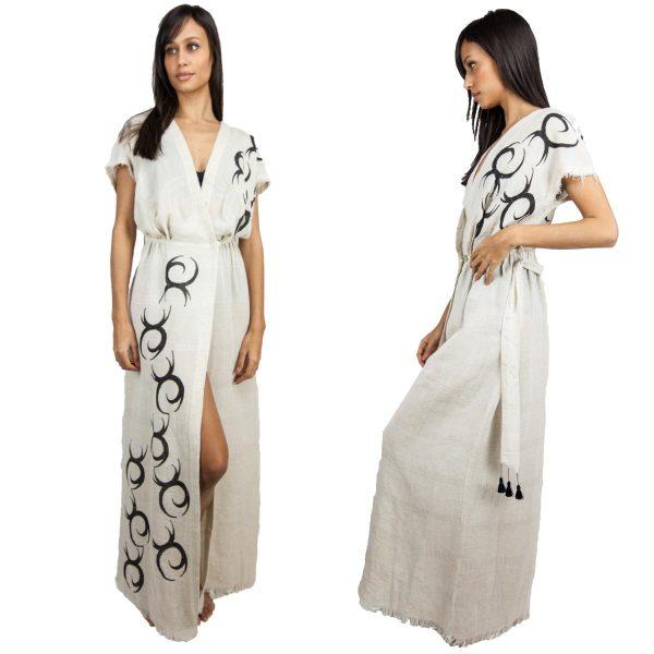 2734-Linen Dress