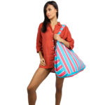 Funky Beach Bag - Turquoise