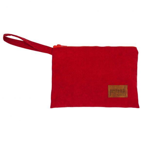 Velvet-Red-Clutch
