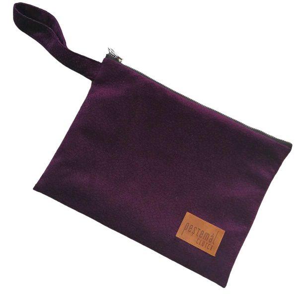 Clutch-Purple-Suede