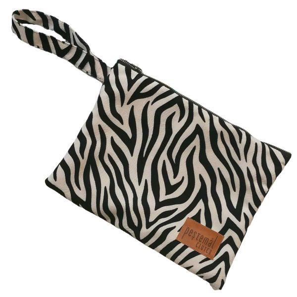 Clutch-Zebra-Suede