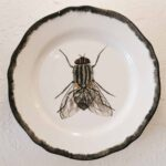 Hand Painted Plates 28cm - FLY