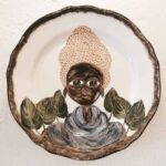 AFRICAN PLATE SERIES - 28cm beige
