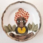 AFRICAN PLATE SERIES - 28cm red