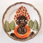 AFRICAN PLATE SERIES - 22cm red