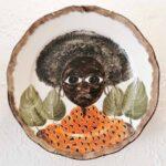 AFRICAN PLATE SERIES - 22cm taba