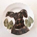 Hand Painted Plates 28cm - DOG