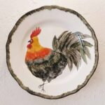 Hand Painted Plates 28cm - ROOSTER