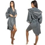 Misk Bathrobe - Anthracite