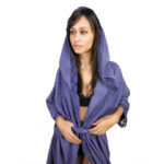 Misk Bathrobe - Purple